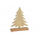 Karácsonyfa fém aranyból készült mangó fa alapon (