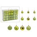 Set di palline di Natale in plastica verde set di