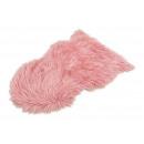 Pelliccia sintetica rosa / rosa (L / A) 80x50 cm