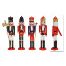 Nutcracker made of wood colored 4- times assorted