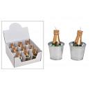 mayorista Carteles y paneles publicitarios: Vela botella de champán en una lata, cubeta de cha