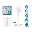 wholesale Air Conditioning Units & Ventilators: Pedestal fan made of white plastic (H) 120cm Ø40c