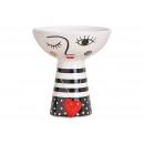 Ciotola in ceramica donna nero, bianco (L / A / P)