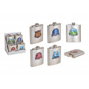 wholesale Lunchboxes & Water Bottles: Hip flask made of stainless steel silver 6- times