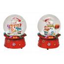 Carillon, pupazzo di neve palla di neve in poli, v