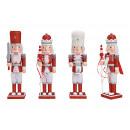 Schiaccianoci con glitter in legno rosso 3 volte s