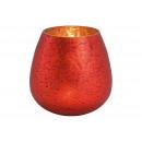 Lanterna in vetro rosso (H) 14cm Ø14cm