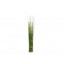 Fascio di erba eretta in plastica verde (H) 43 cm
