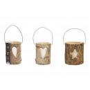 Lanterne, cuori, decorazioni a stella, con vetro,