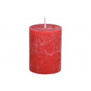 Candela 6,8x9x6,8cm realizzata in cera rossa
