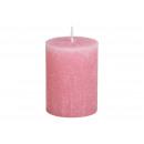 Candela 6,8x9x6,8cm realizzata in cera rosa antico