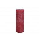Gyertya 6,8x18x6,8cm Bordeaux viaszból