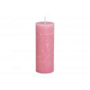 Régi rózsaszínű viaszból készült 6,8x18x6,8cm gyer