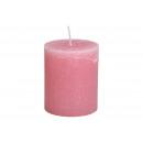 10x12x10cm gyertya régi rózsaszínű viaszból
