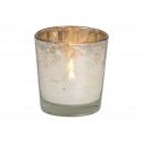 Luce del vento in vetro argento (L / A / P) 6x5x6