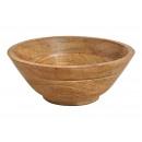 plato de madera marrón (An / Al / P) 24x8x24cm Ø24