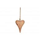 Cuore appendiabiti in legno marrone (L / A / P) 10