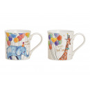 Bögre születésnapi zsiráf, elefánt porcelánból Bu