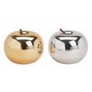 Ceramic apple gold, silver 2- times assorted , (B
