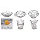 wholesale Organisers & Storage: Flexible metal basket, 5 in 1, iron black Ø48cm,