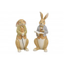 wholesale Dolls &Plush: Poly beige bunny 2- times assorted , (W / H / D) 1