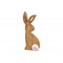 Presentoir Lapin en bois marron (L / H / P) 10x25x