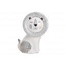 wholesale Decoration: Ceramic lion white (W / H / D) 15x19x9cm