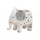 wholesale Flowerpots & Vases: Ceramic elephant flower pot white (W / H / D) 12x9