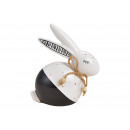 Ceramic rabbit white, black (W / H / D) 10x12x5cm