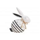 Ceramic rabbit white, black (W / H / D) 17x19x8cm