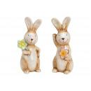 groothandel Poppen & Pluche: Keramiek konijn beige 2- maal geassorteerd , (B /