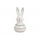 Ceramic rabbit white (W / H / D) 6x13x6cm