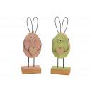 Espositore Coniglio in legno, rosa metallizzato /