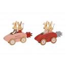 Coniglietto in macchina, Buona Pasqua in legno Ros
