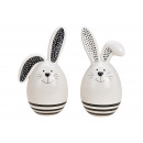 Ceramic rabbit white 2- times assorted , (W / H /