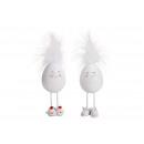 Poly egg, piedini in metallo bianco 2- volte assor