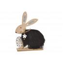 Espositore Coniglietto di Pasqua felice in legno,