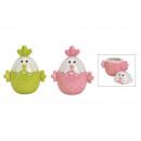 Vaso in ceramica rosa / rosa, verde 2-assort
