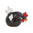 Fekete kerámia kakas (Szé / Ma / Mé) 17x12x10cm
