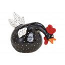 Fekete kerámia kakas (Szé / Ma / Mé) 22x15x13cm