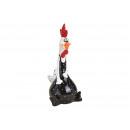 Fekete kerámia kakas (Szé / Ma / Mé) 10x20x8cm