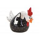 Fekete kerámia kakas (Szé / Ma / Mé) 21x16x11cm