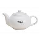 Teiera in ceramica bianca TEA (L / H / P) 23x14x15