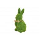 Bunny floccato da argilla verde (L / A / P) 11x19x