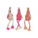 Edge stool chicken made of textile colored 3- time