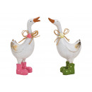 wholesale Shoes: Goose with rubber boots made of poly white 2-fold