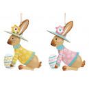 Appendino coniglietto con uovo di Pasqua realizzat