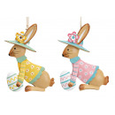 wholesale Home & Living: Hanger bunny with Easter egg made of metal colored
