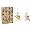 Hanger made of wood colored 2- times assorted , (W