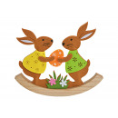 Coniglietto a dondolo in feltro, legno colorato (L